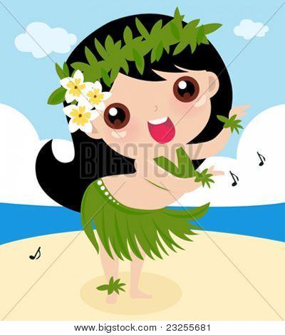 funny hula girl