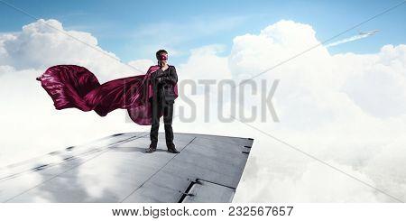 He is super hero . Mixed media