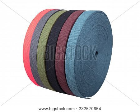 Cotton Tape - Roll Textilies  > Lime  Cotton Webbing Isolated On White Backgrou