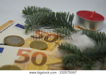 Christmas Money - the 13.th salary - Christmas time - commerce time. Some companies pay off the 13.th / 14.th salary in the November payroll poster