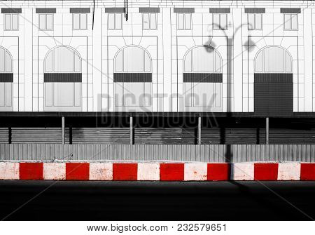 Red Limiting Bricks On Minimal City Street Background Hd