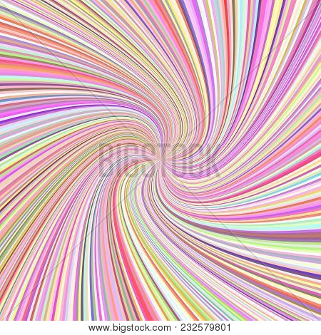 Geometric Spiral Ray Background - Vector Graphic Design From Twisted Rays In Colorful Tones