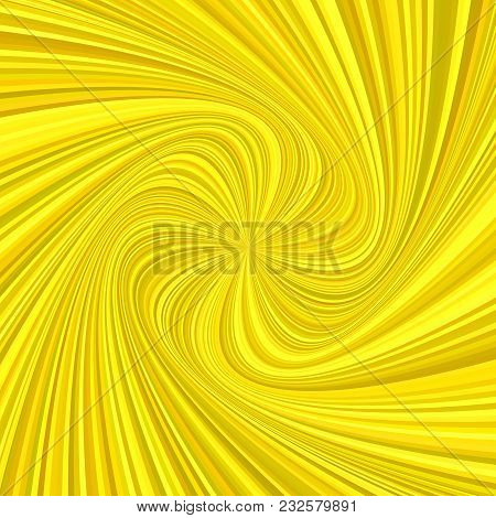 Geometric Spiral Background - Vector Design From Rotating Rays In Golden Color Tones