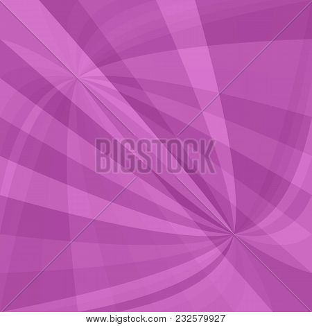 Purple Abstract Curved Ray Burst Background - Vector Graphic From Striped Rays