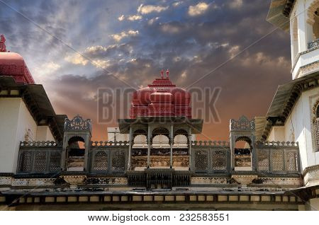 Historical Building In Gulab Bagh, Udaipur, Rajasthan, India
