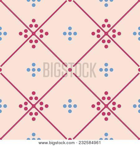 Tile Pastel Decorative Floor Tiles Vector Pattern Or Seamless Background