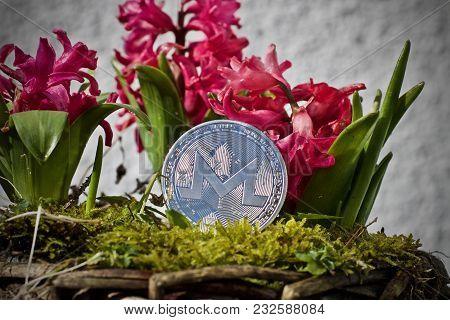 Silver Monero Coin