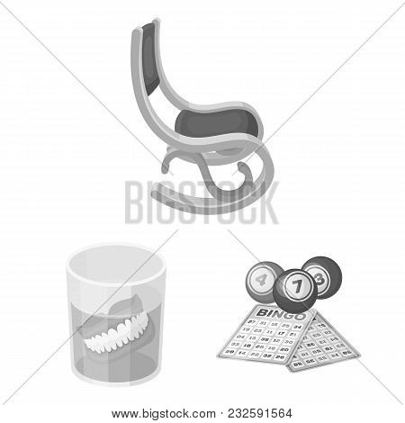 Human Old Age Monochrome Icons In Set Collection For Design. Pensioner, Period Of Life Vector Symbol