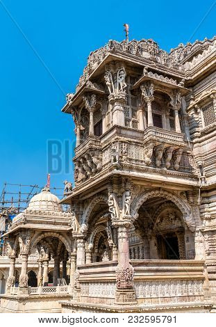 Hutheesing Jain Temple in Ahmedabad - Gujarat state of India poster