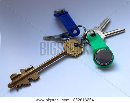 A Bunch Of Keys For Opening And Closing Of Door Locks
