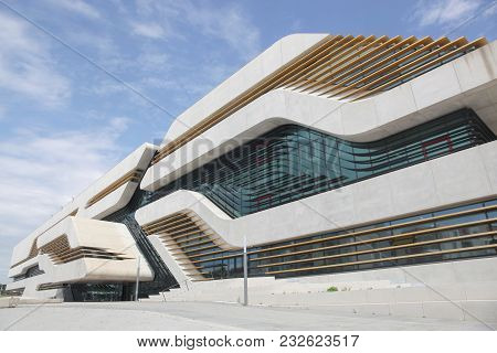 Montpellier, France - May 31, 2017: The Pierresvives Building For The Department Of Herault Is The U