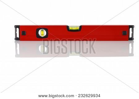 Red, Shockproof Building Level On White Background
