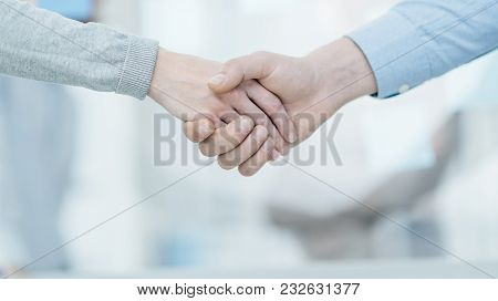 Business People Shaking Hands, Agreement And Cooperation Concept