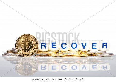 Conceptual Cryptocurrency Bitcoin With The Word Recover