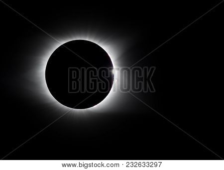 Solar Eclipse Diamond Ring And Solar Flares During A Total Eclipse