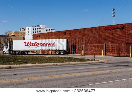 Indianapolis - Circa March 2018: Walgreens Retail Location. Walgreens Is An American Pharmaceutical
