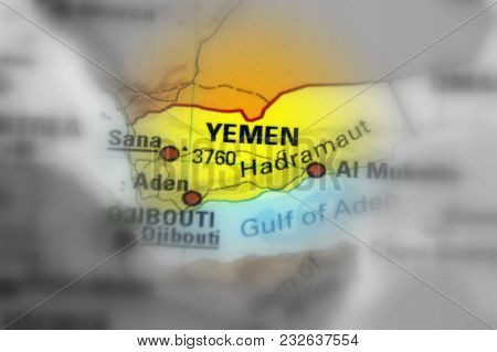 Yemen, Officially Known As The Republic Of Yemen (black And White Selective Focus).