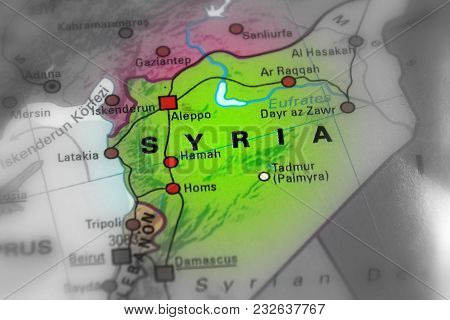Syria, Syrian Arab Republic. (black And White Selective Focus).