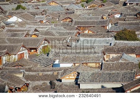 View Of The Roofs Of The Lijiang  Chinese Old City