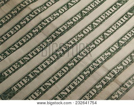 Series Of Dollar Banknotes Make Flag Design