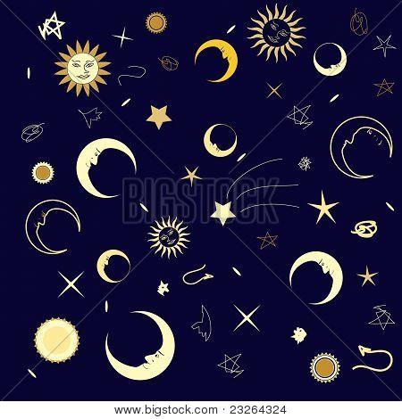Naadloze structuur nachtelijke hemel