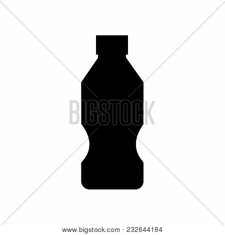 Water Plastic Bottle Icon. Soda. Lemonade Isolated Flat Web Mobile Sign Symbol Button Element Silhou