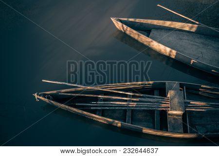 Two Typical Boats At Pateira De Fermentelos, Aveiro - Portugal