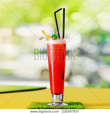 Cocktail  Of The Summer Landscape On Grass