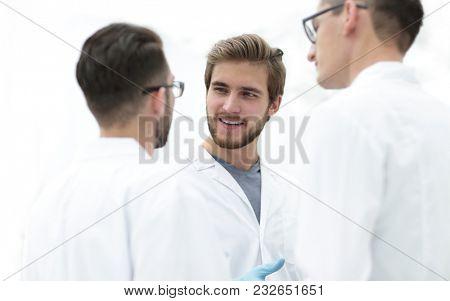 closeup.a group of doctors talking.
