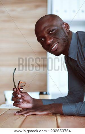 Portrait of an handsome young black businessman