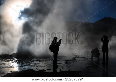 El Tatio Geyser Field At Dawn - Chile
