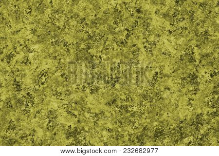Texture (background) Of Natural Stone - Close Up. Toning In Pantone Color Golden Lime.