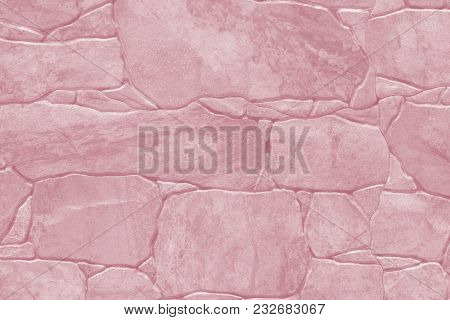 Tile Imitation Of Natural Stone - Texture (background). Toning In Pantone Color Ballet Slipper.