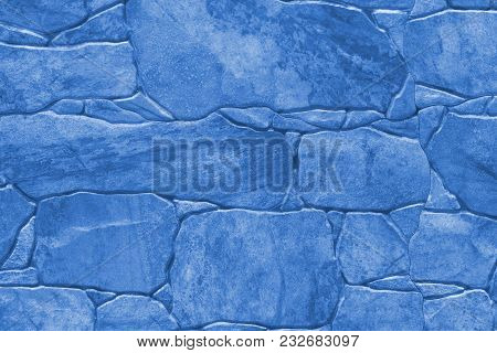 Tile Imitation Of Natural Stone - Texture (background). Toning In Pantone Color Marina.