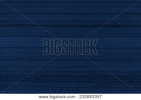 Fabric Background With An Abstract Pattern. Close-up. Toning In Pantone Color Navy Peony.