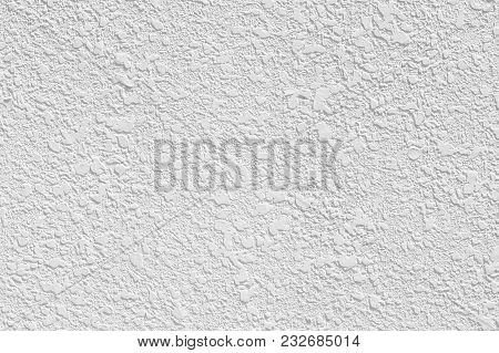Stucco White Wall Rough Texture For Background