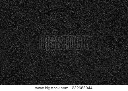 Stucco Dark Wall Rough Texture For Background
