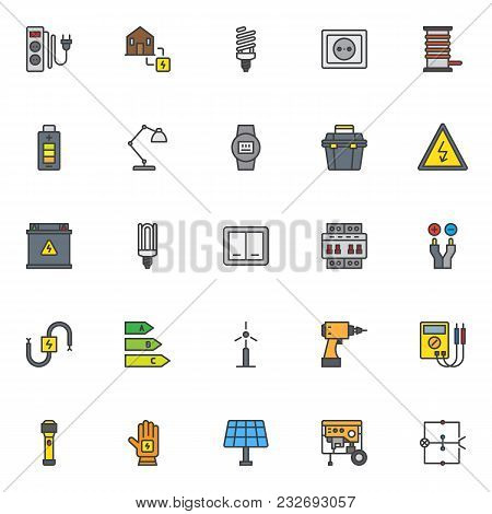Electrician Elements Vector Photo Free Trial Bigstock