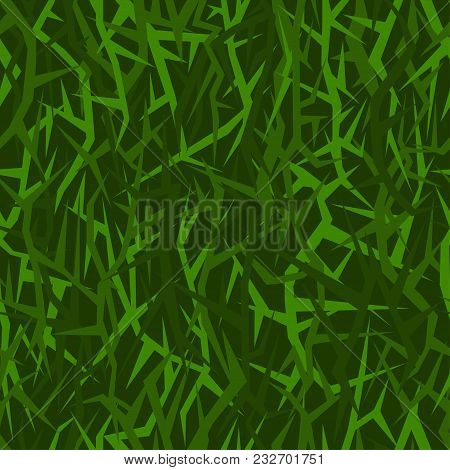 Seamless Acute-angled Texture For Military Uniform. Version Green Forest