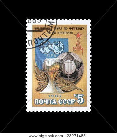 Soviet Union - Circa 1985 : Cancelled Postage Stamp Printed By Soviet Union, That Promotes World Jun