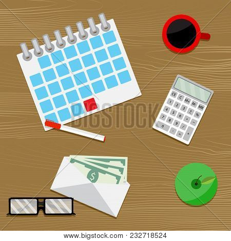 Paydays Salary Vector. Money Salary Increase, Pay Wages, Compensation And Paycheck, Payroll Vector I