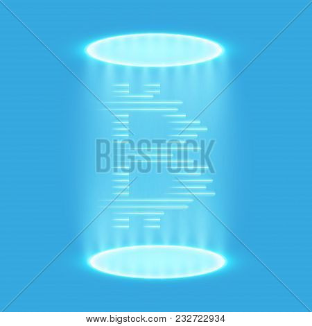 Bitcoin Teleportation. Bitcoin Mining, Conceptual Illustration.. Digital Money. Concept Design Of Cr