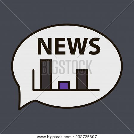Breaking News Online Announcement Message Line With Message About Latest News