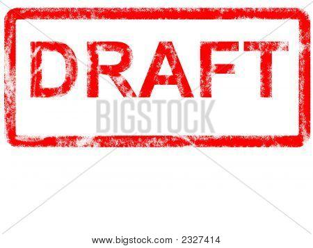 Red Draft Grunge
