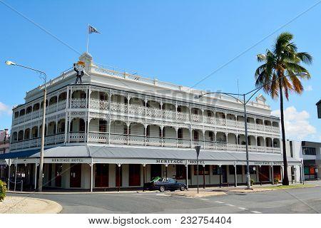 Rockhampton, Queensland, Australia - December 28, 2017. Historic Building Dating From 1898, Occupied