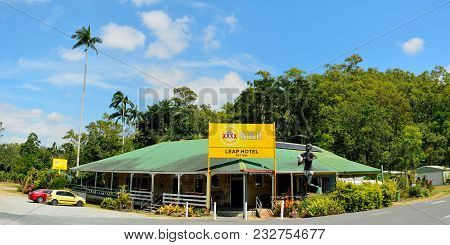 The Leap Locality, Queensland, Australia - December 31, 2017. Exterior View Of Historical Leap Hotel