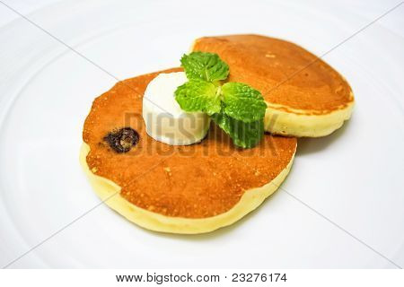Chocolate Pancakes With Butter