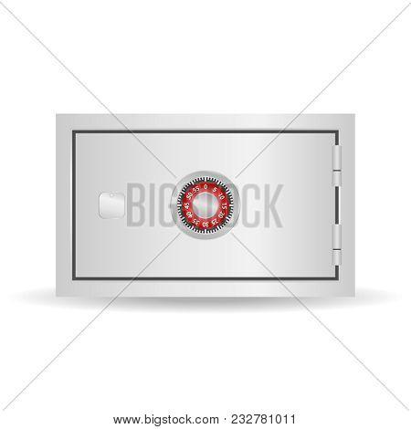 Safe, Realistic Safe With A Combination Lock. Safe Badge. Flat Design, Vector Illustration, Vector.