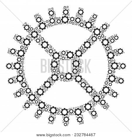 Clock Gear Vector & Photo (Free Trial) | Bigstock