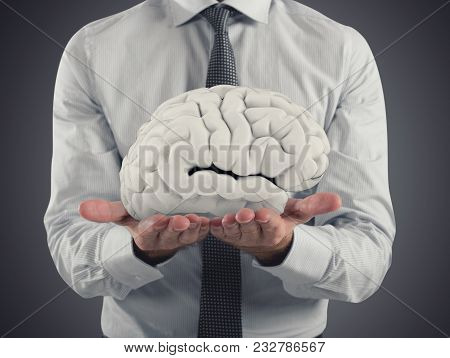 Bet On The Capacity Of The Human Brain. 3d Rendering